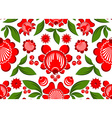 Gorodets painting seamless pattern Floral ornament vector image vector image