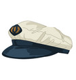 hat designed in marine or nautical style vector image vector image