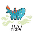 hello funny print with halloween shark ideal for vector image vector image