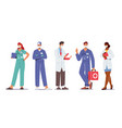 hospital healthcare staff doctor characters vector image vector image