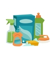 House cleaning hygiene and products flat vector image vector image
