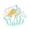 icon of a happy turtle vector image vector image
