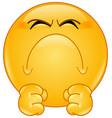 irritated emoticon vector image