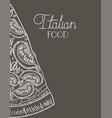 italian pizza portion hand drawn italian food vector image
