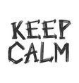 keep calm words grunge vector image