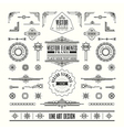 line art deco retro vintage frame design elements vector image vector image