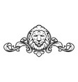 lion head with vintage design elements vector image vector image