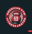 modern professional logo emblem fitness gym vector image