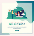 online shop payment vector image vector image