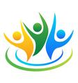 Optimistic people logo vector image vector image