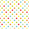 Pattern with colorful polka dots white background vector image vector image