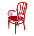 rattan chair in red vector image vector image