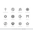 religious tradition symbols set christianity vector image