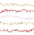 Ribbon set on white background vector image vector image