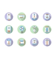 Round flat color home climate icons vector image vector image