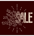 Sale hand-lettering vector image
