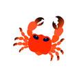 sea red cute cartoon crab image vector image