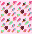 seamless pattern cute hand drawn ice vector image