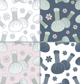 Seamless patterns with Thai massage spa elements vector image vector image