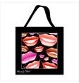 Shopping bag design with woman lips vector image