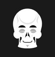 skull sleeps emoji skeleton head asleep emotion vector image vector image