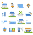 Smart House Decorative Flat Icons vector image
