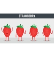 Strawberry Funny cartoon fruits Organic food vector image vector image