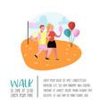 summer fun fair poster banner amusement park vector image vector image