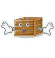 surprised crate mascot cartoon style vector image