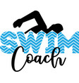 swim coach isolated on white background vector image vector image