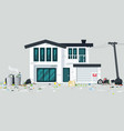 Trash house vector image