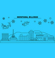 united states billings winter holidays skyline vector image vector image