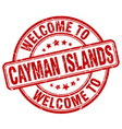 welcome to cayman islands vector image vector image