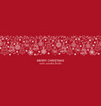 white and red seamless snowflake header christmas vector image vector image