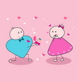 will you marry me couple in love vector image