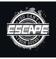 You Cant Escape From Sound T-shirt Typography vector image vector image
