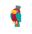 flat parrot vector image