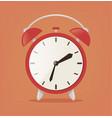 red alarm flat cartoon vector image
