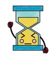 hourglass kawaii icon image vector image