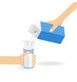Milk creating splash vector image