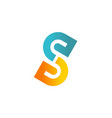 letter s colored company logo vector image