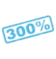 300 Percent Rubber Stamp vector image vector image