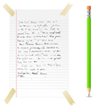 abstract note and pen vector image vector image
