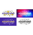 advertising flat line concept for web banner and vector image vector image