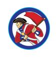 american soldier vector image vector image