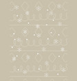 background snowflakes snow celebration merry vector image