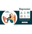 banner depression mental illness color vector image