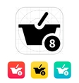 Basket with number icon vector image