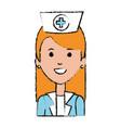 beutiful nurse avatar character vector image vector image