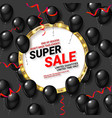 black balloons super sale vector image vector image